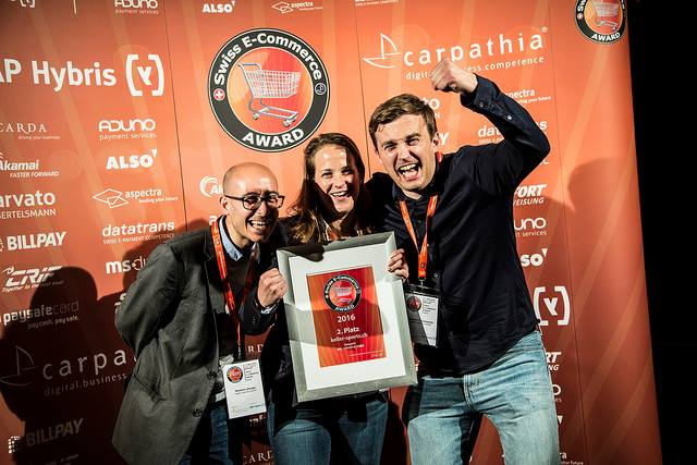 SECOND PLACE AT THE 2016 SWISS E-COMMENCE AWARDS