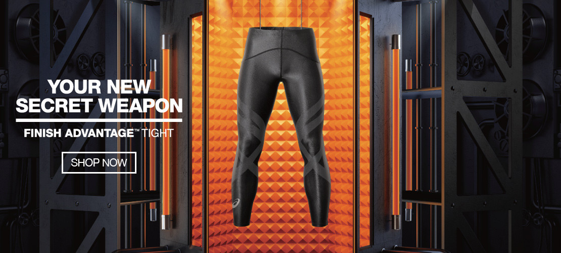 BREAK RECORDS WITH THE ASICS FINISH ADVANTAGE TIGHT