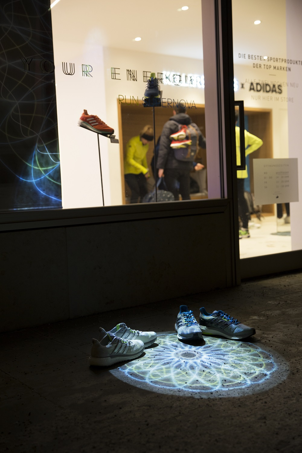 ADIDAS SUPERNOVA - THE PRODUCTS AT THE KELLER SPORTS STORE
