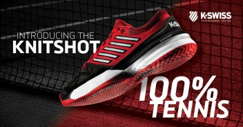 100% TENNIS WITH THE K-SWISS KNITSHOT