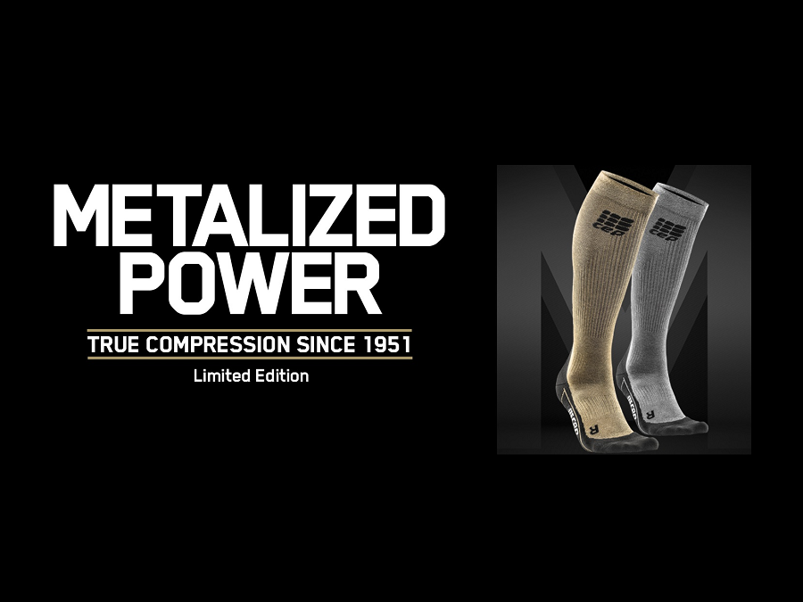 NEW AT KELLER SPORTS: THE LIMITED CEP SOCKS IN GOLD & SILVER