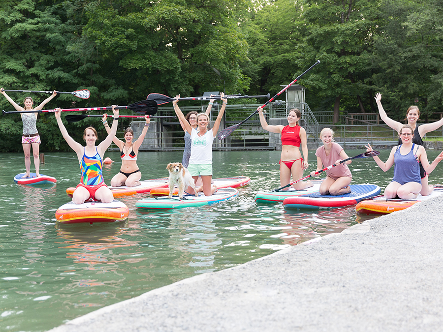 STAND-UP PADDLING WITH KELLER SPORTS AND FANATIC ON THE ISAR