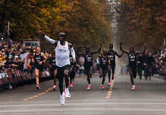 Eliud Kipchoge is the first human to run a marathon under two hours in Vienna in 2019