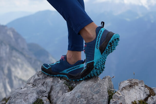 The Dynafit Speed Mtn GORE-TEX® trail running shoes offer great grip and comfort when climbing