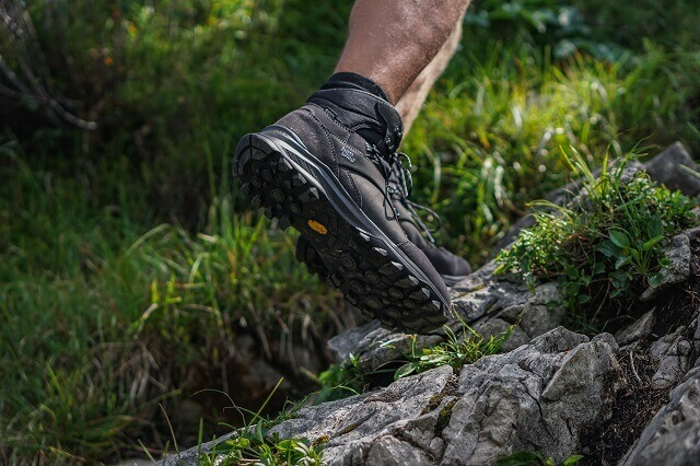 The Vibram sole gives the Hanwag Banks GTX hiking boots a good grip and hold while hiking