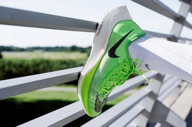 The Nike ZoomX Vaporfly NEXT% running shoes are the evolution of the first shoe with a carbon plate in the sole