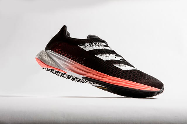 The adidas Adizero Pro running shoes are the first shoes 2020 from adidas with a carbon fibre plate in the sole