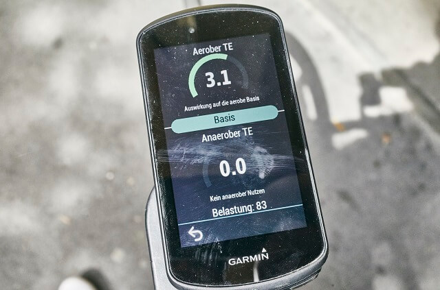 With the many sensors of the Garmin Edge 1030 Plus bike computer, the training can also be well monitored on the 2020 bike course