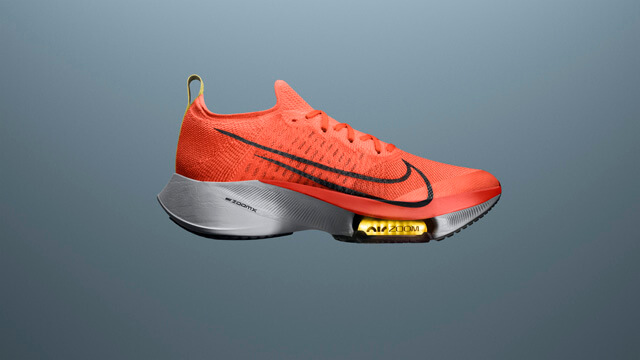 Nike Air Zoom Tempo NEXT% running shoes with the new Mango Colorway 2020