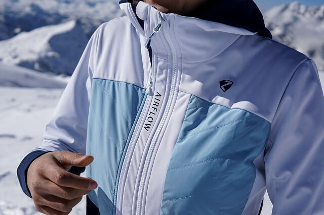 The Ziener Neta women's hybrid jacket provides good insulation and breathability for your winter sports activities