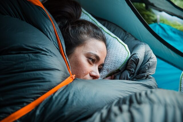 Even in the tent, the Blackroll Recovery Pillow offers you a good night's sleep and a complete recovery from sports.