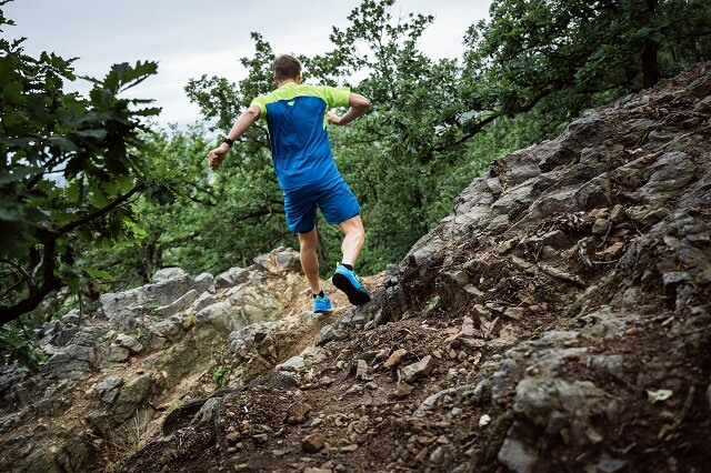 In order to keep your balance when running on trails, even on uneven terrain, it is important to train properly for your first run on trails