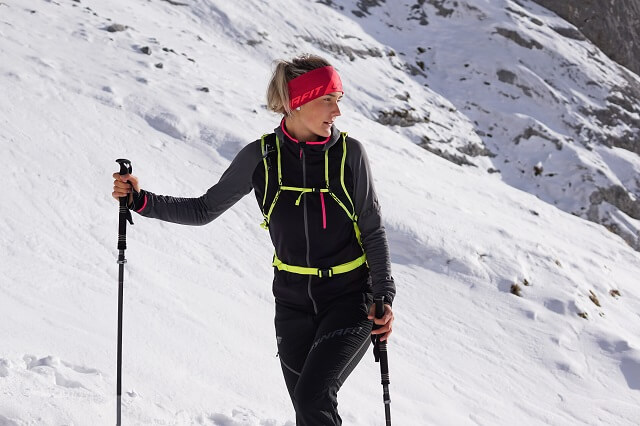 The Dynafit Speed Thermal Women's Jacket in the Ski Touring Test 2020 2021