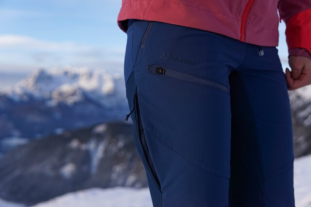 The Schöffel Rognon Softshell ski touring trousers in the winter sports clothing test 2020 2021
