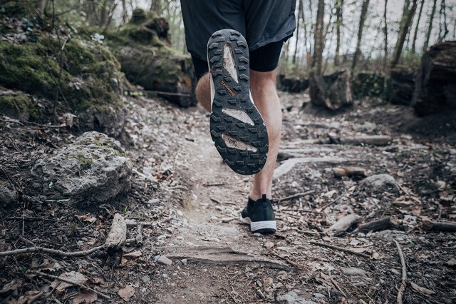 The right trail shoes have a grippy tread and offer you plenty of grip when running on trails, even off the beaten track