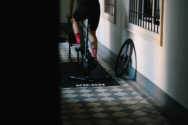 With roller training and the Wahoo Fitness products, bike training can easily be continued even in winter