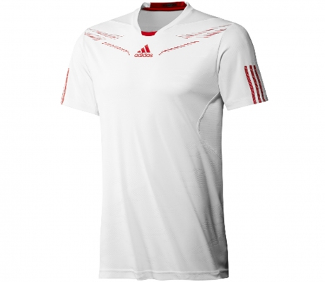 Adidas - Men Barricade Crew Tee white - HW12
