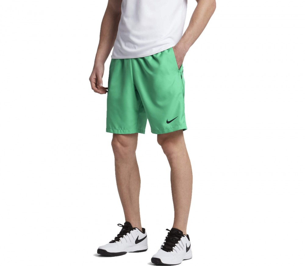 Nike - Court Dry men's tennis shorts (green/black)