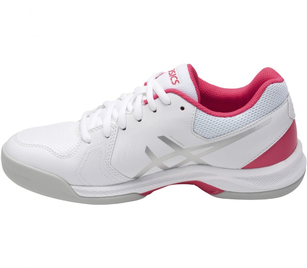 Asics - Gel-Dedicate 5 Indoor women's tennis shoes (white/grey)