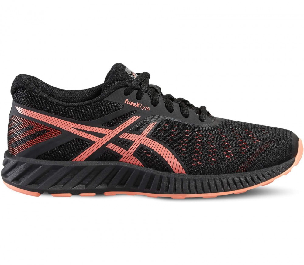 ASICS - FuzeX Lyte women's running shoes (black/light red)