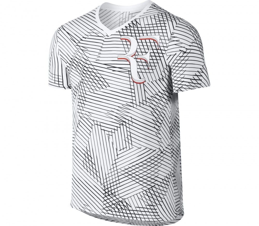 Nike - Roger Federer men's tennis top (white/black)