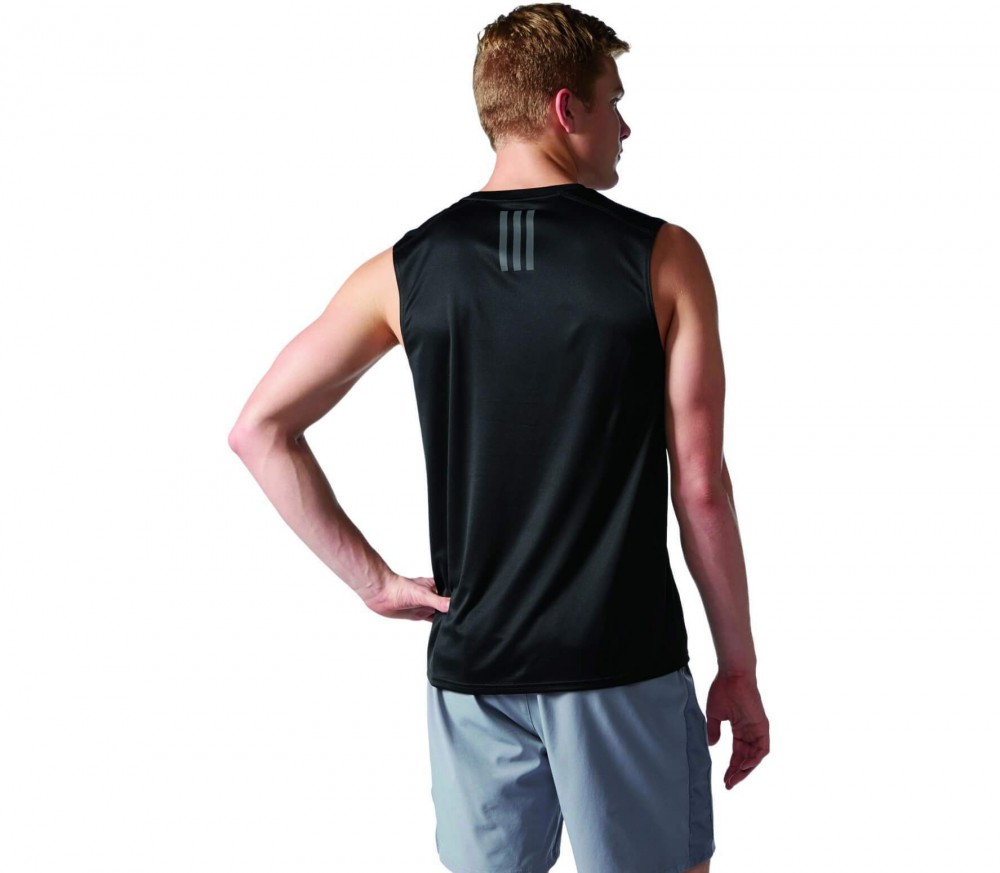 Adidas - Response Sleeveless men's running t-shirt (black)