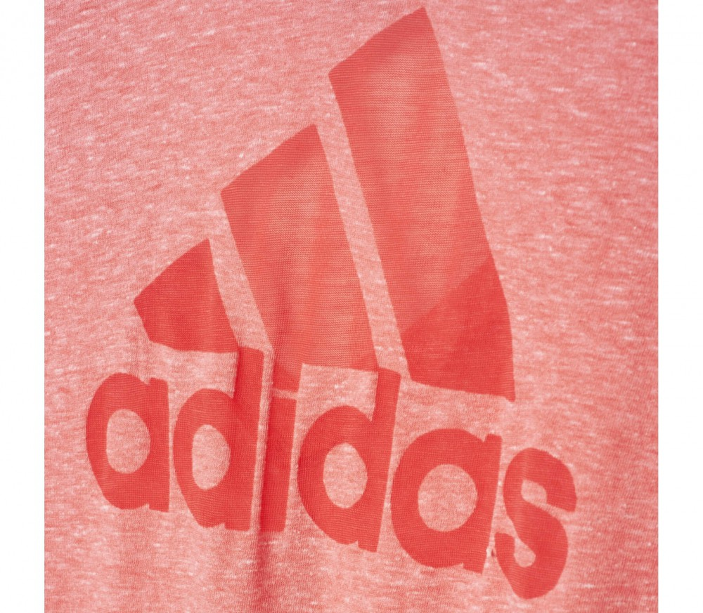Adidas - Logo V-neck women's training top (pink)