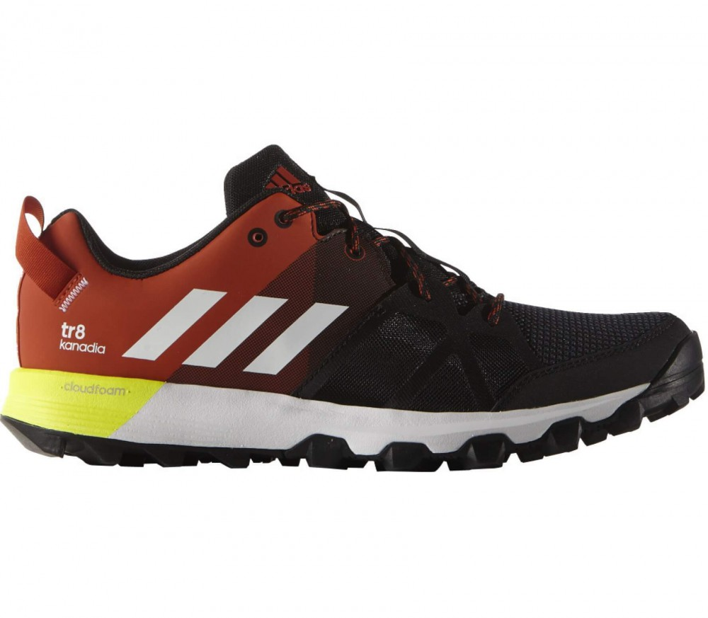 Adidas - Kanadia 8 TR men's running shoes (black/red)