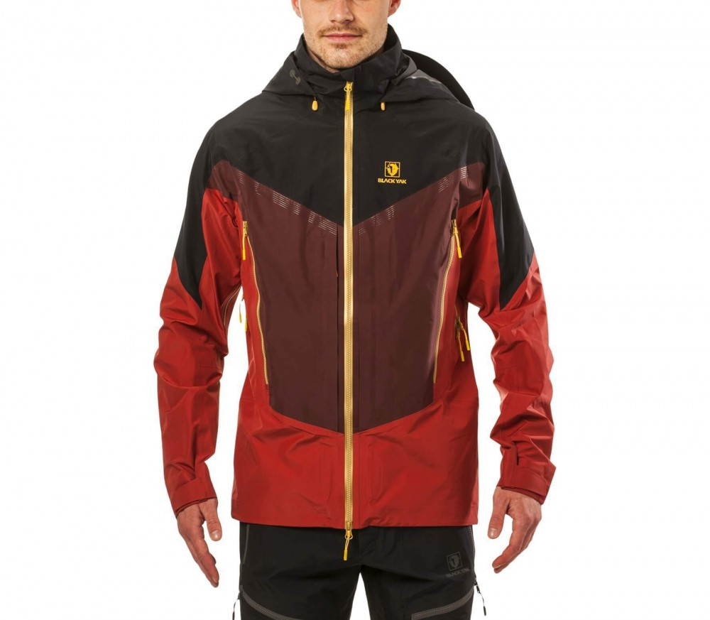 Black yak t shirt - Blackyak Gore Pro Shell Men S 3 Layer Jacket Dark Red Black