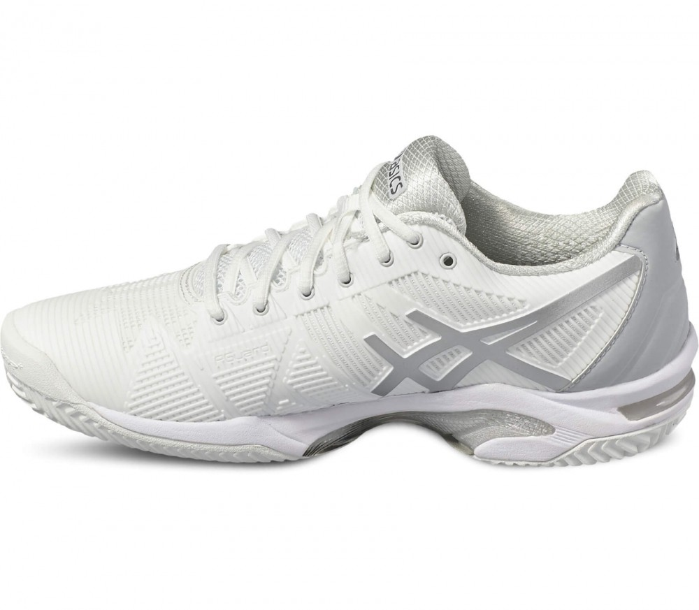 Asics - Gel-Solution Speed 3 Clay women's tennis shoes (white/grey)