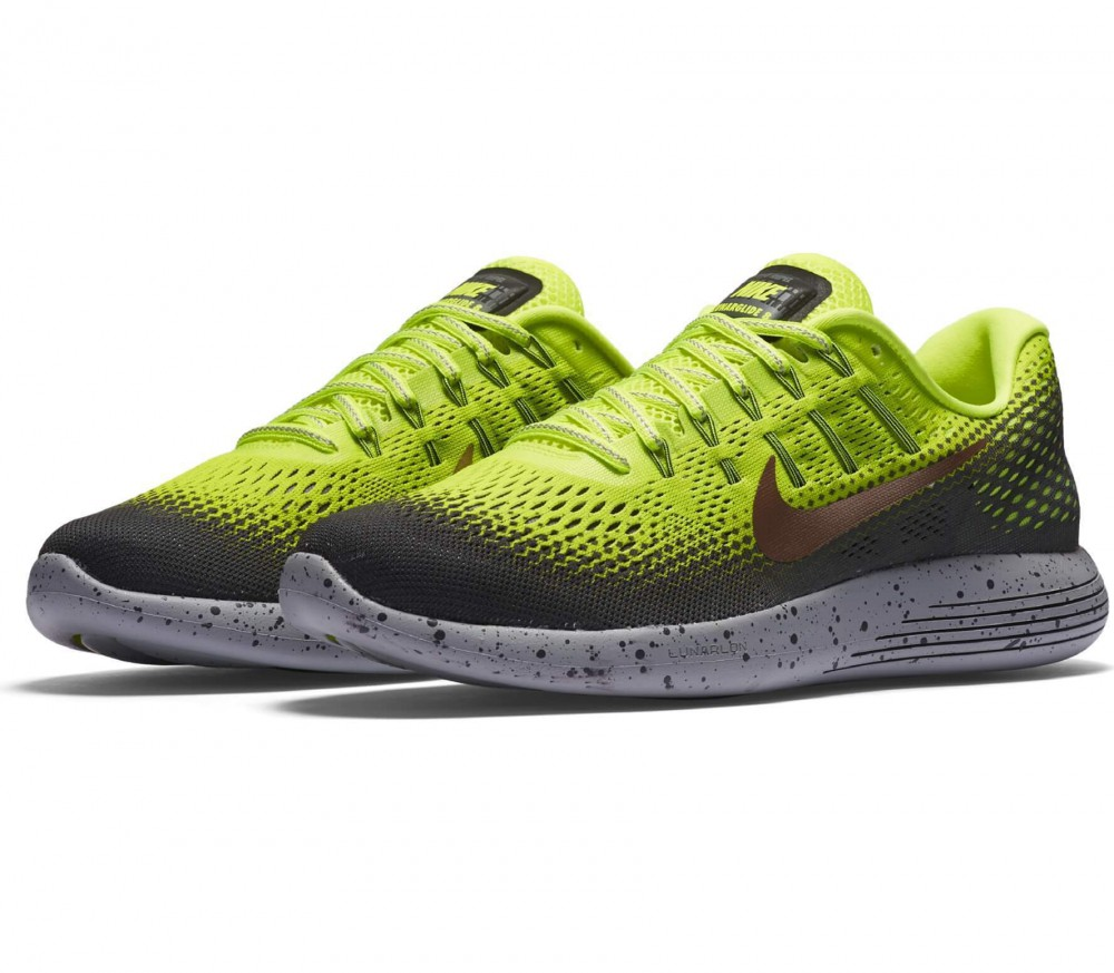 reputable site 3f3b9 4e248 ... Nike - LunarGlide 8 Shield mens running shoes (greyyellow) ...
