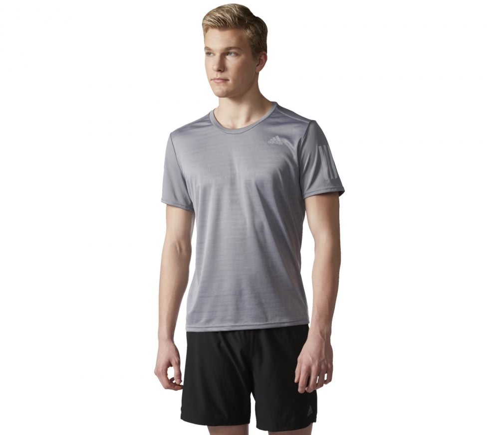 Adidas - Response Shortsleeve men's running t-shirt (grey)
