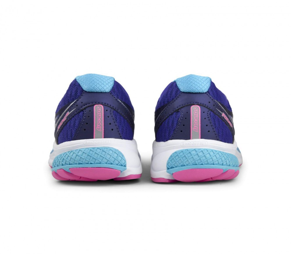 Saucony - Ride 9 women's running shoes (purple/light blue)