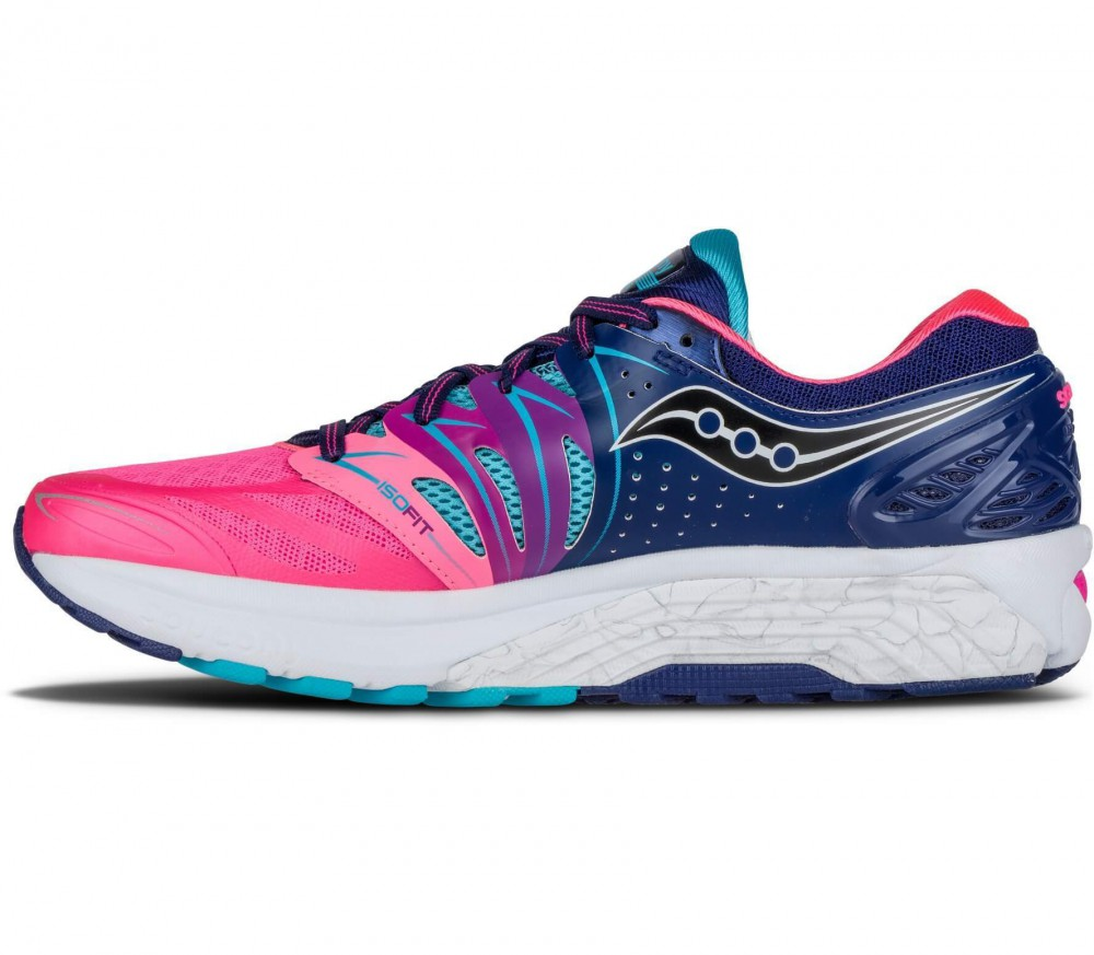 Saucony - Hurricane ISO2 women's running shoes (dark blue/pink)