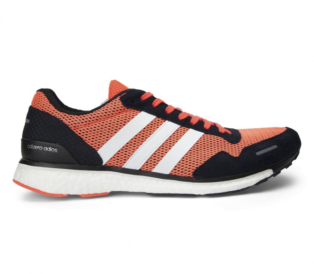adidas adizero adios boost 3 men 39 s running shoes red black buy it at the keller sports. Black Bedroom Furniture Sets. Home Design Ideas