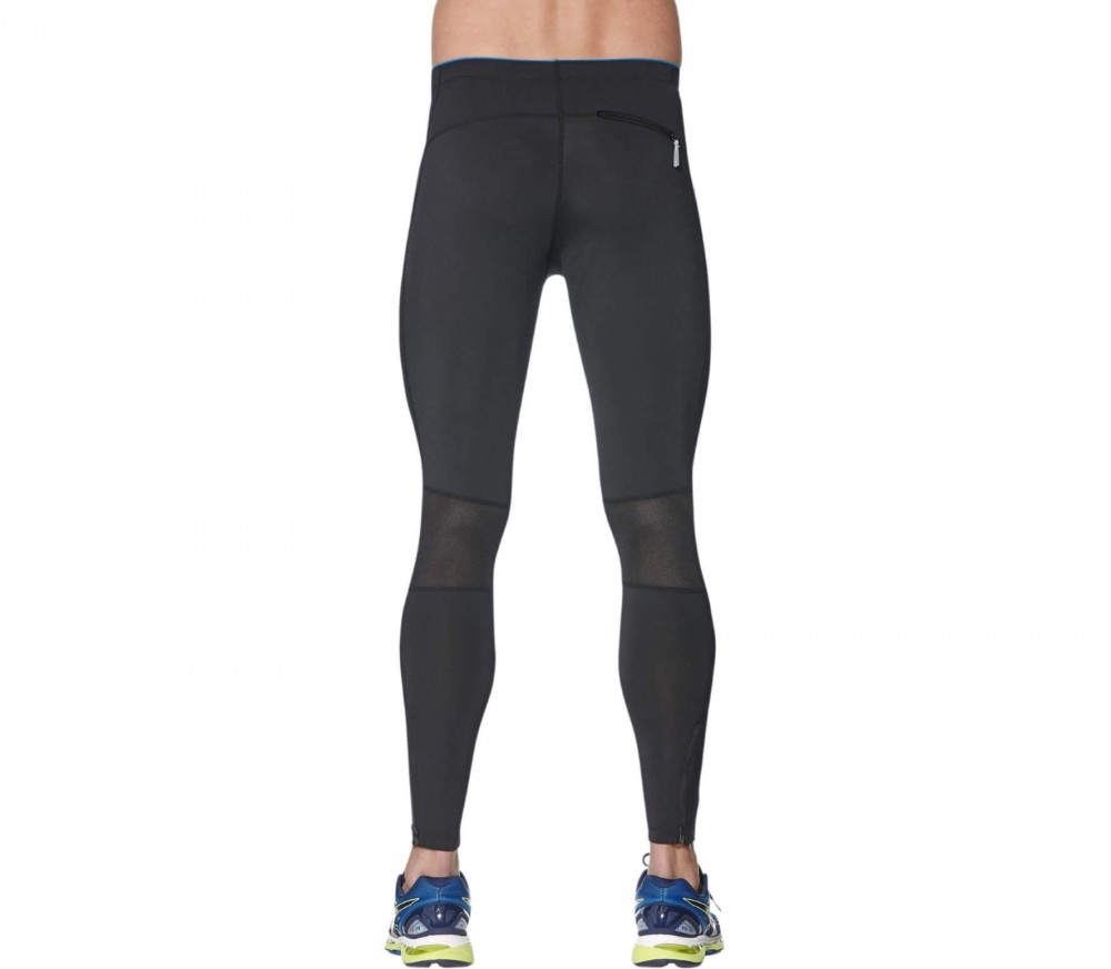 Asics - Stripe men's running pants (black/blue)