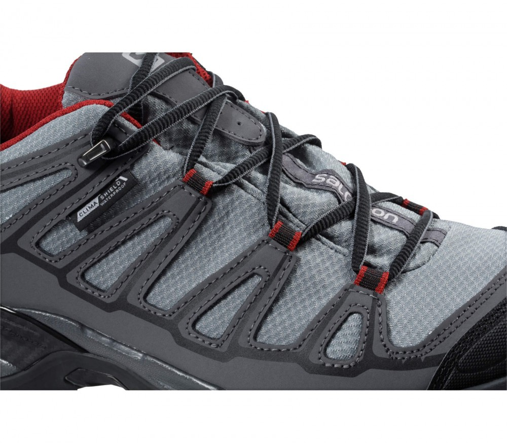 Salomon - X Ultra Prime CS WP men's hiking shoes (grey/red)