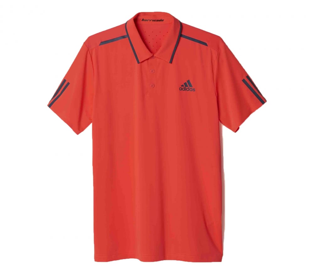 Adidas - Barricade men's tennis polo top (red/grey)