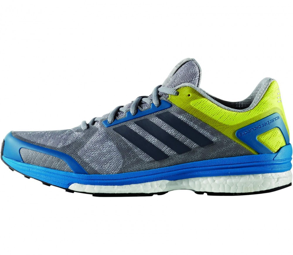 Adidas - Supernova Sequence 9 men's running shoes (grey/yellow)