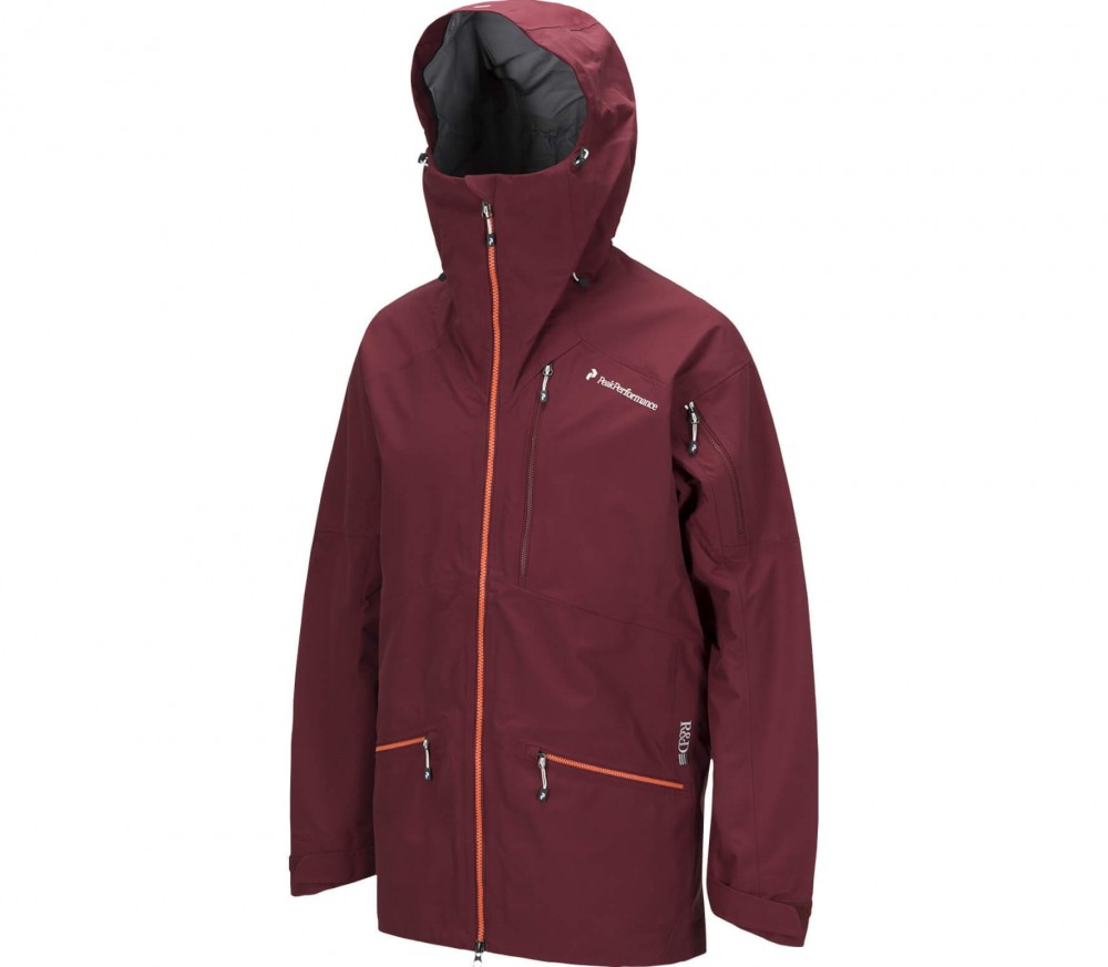 Peak Performance - Radical men's 3 layer ski jacket (red/orange)