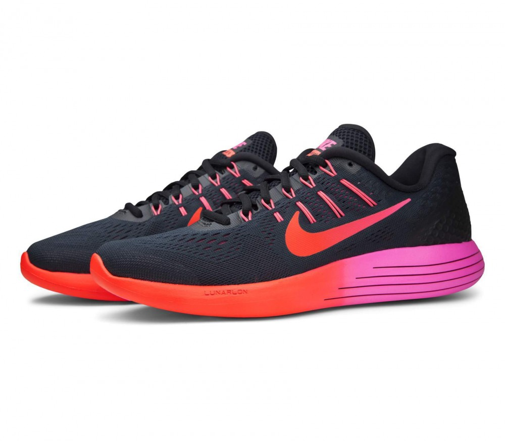nike lunarglide 8 women 39 s running shoes black pink. Black Bedroom Furniture Sets. Home Design Ideas