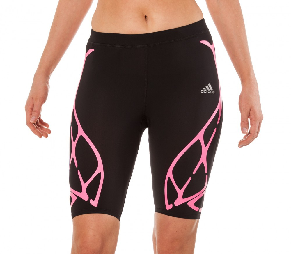 adidas adizero sprint web shorts tight women 39 s running shorts black pink buy it at the. Black Bedroom Furniture Sets. Home Design Ideas