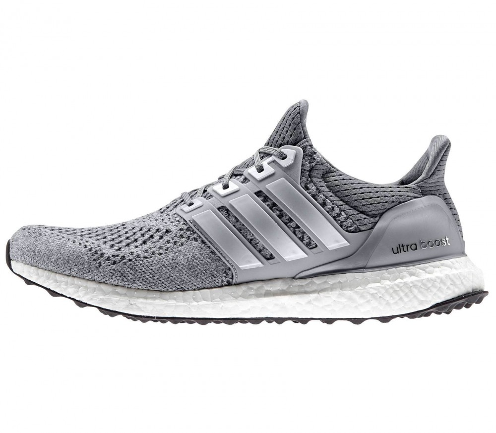 adidas ultra boost men 39 s running shoes silver grey