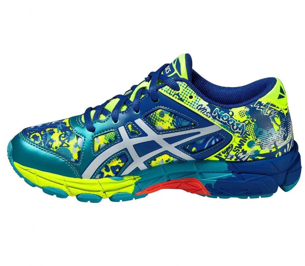 asics gel noosa tri 11 junior running shoes blue yellow