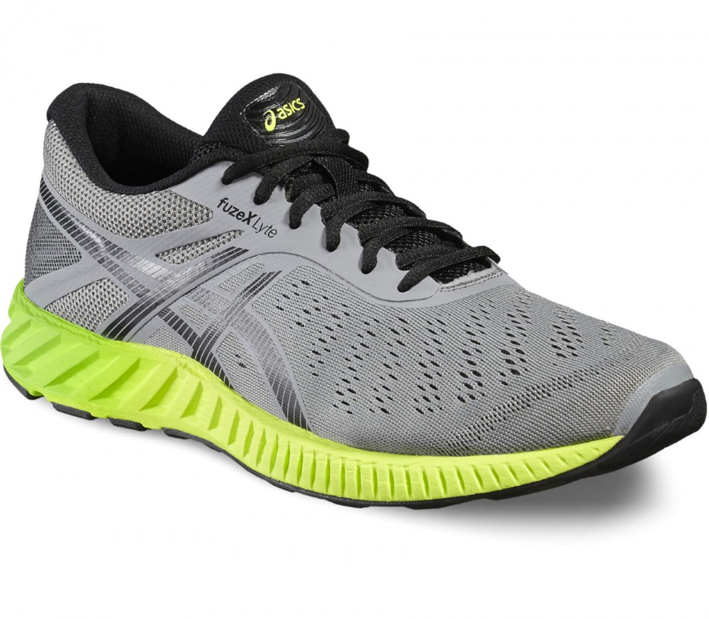 Asics - FuzeX Lyte men's running shoes (grey/yellow)