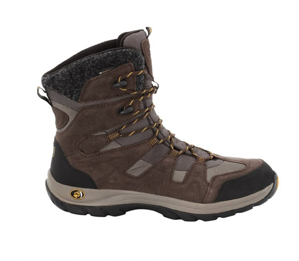 jack wolfskin icy park texapore men 39 s winter hiking boots brown buy it at the keller. Black Bedroom Furniture Sets. Home Design Ideas