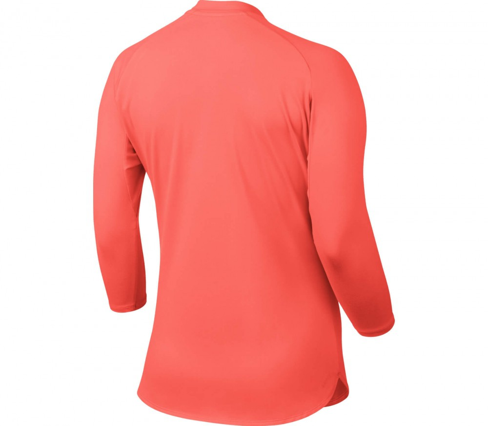 Nike - Court Dry women's tennis top (orange/white)