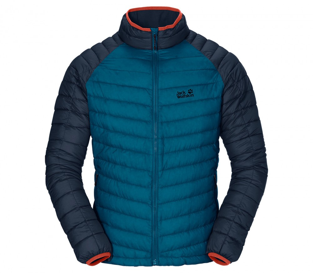 jack wolfskin zenon basic zip in men 39 s down jacket blue. Black Bedroom Furniture Sets. Home Design Ideas