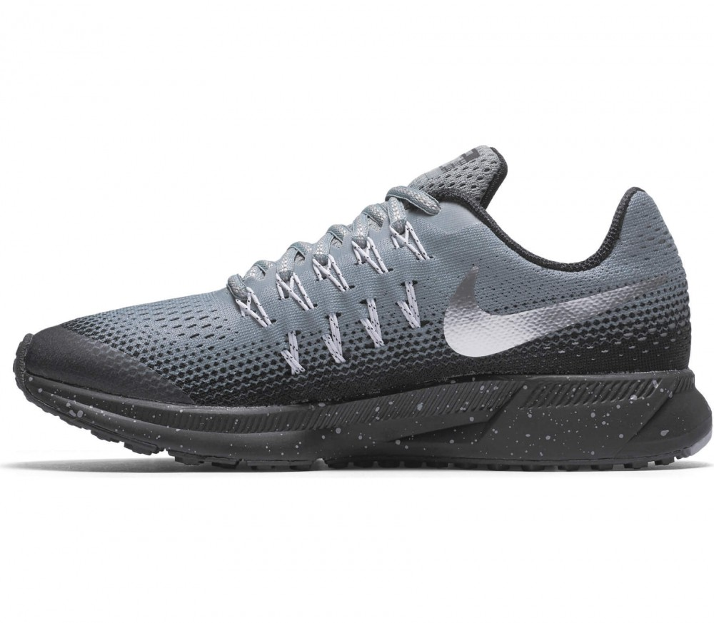 Nike - Zoom Pegasus 33 Shield (GS) Children running shoes (grey/silver)