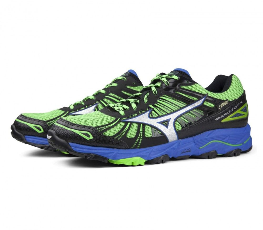 Mizuno - Wave Mujin 3 GTX® men's running shoes (green/blue)